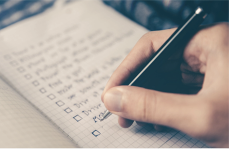 Use a checklist for onboarding new users.